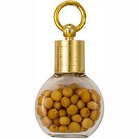 Gold Round Mustard Seed Charm