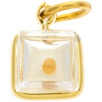 Square Mustard Seed Charm Gold