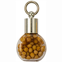 Silver Round Mustard Seed Charm
