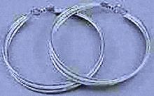 Twisted Silver Hoop Earrings