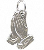 Pewter Praying Hands Charm
