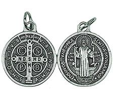 St. Benedict Pewter Charm Medal