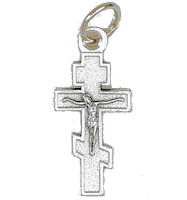 Byzantine Orthodox Cross Charm Metals