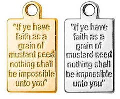 Mustard Seed Prayer Plaque Charm