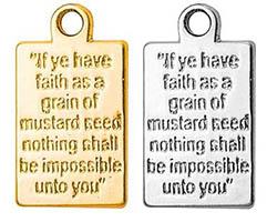 Mustard Seed Prayer Plaque Charm