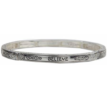 Believe Bangle Bracelet