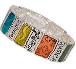 Fruits of the Spirit Wide Bracelet Silver