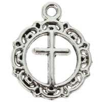 Cross in Circle Silver Charm (Pkg of 12)