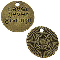 Never Never Give Up Charm Coin (Pkg of 12)