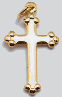 Cross on Cross Charm Silver