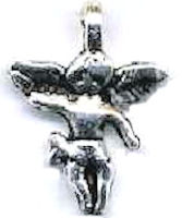Angel Charm Silver Standing (Pkg of 12)