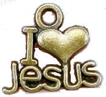I Love Jesus Charms Pack of 12
