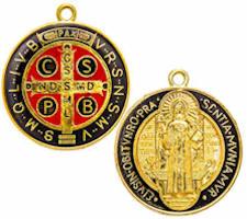 St. Benedict Round Medal Pendant