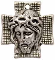 Head of Christ on Cross Charm
