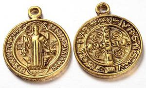St. Benedict Golden Pendant Charm Pack of 12