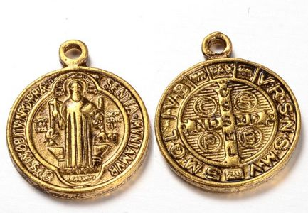 St. Benedict Golden Pendant Charm Dozen