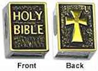 Sterling Silver Holy Bible Bead Charm