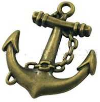 Anchor Bronze Charms Pack of 12