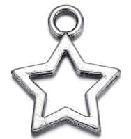 Star Charms Silver Pack of 7