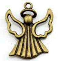 Angel Golden Bronze Charm