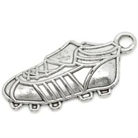 Football Soccer Shoe Charm Silver