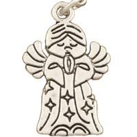 Angel Praying  Charm  Silver