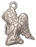 Praying Angel Charms Silver Pack of 12