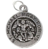 St. Michael's Charm Pray for Us Silver