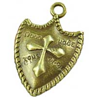 Bronze Shield Cross Charms (Pkg of 12)