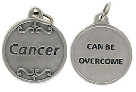 Cancer Can be Overcome Charm Pewter