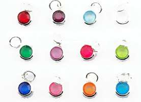 Birthstone Charms Small (Pkg of 4)