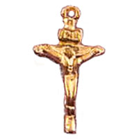 Gold Plated Crucifix Pendant (Package of 12)