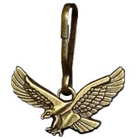 Eagle Zipper Pull Bronze