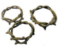 Crown of Thorns Bronze Charms (3)