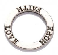 Faith Hope Love Infinity Circle Charms (Pkg of 6)