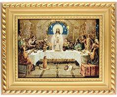 Last Supper Framed Tapestry