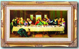 Last Supper Museum Frame Canvas