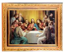 11 inch Last Supper Museum Frame Canvas