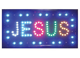 Jesus LED Light Up Sign Display