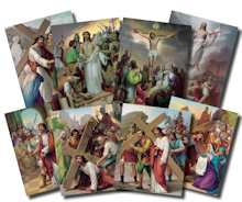 Stations of the Cross 14 Posters Set 8 x 10