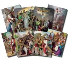 Stations of  the Cross 14 Posters Set  12 x 16