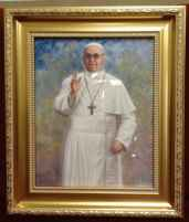 Pope Francis Museum Framed Print