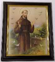 St. Francis Picture in Walnut Frame