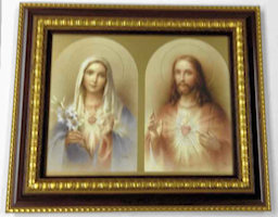 The Sacred Hearts Print Gold Museum Frame