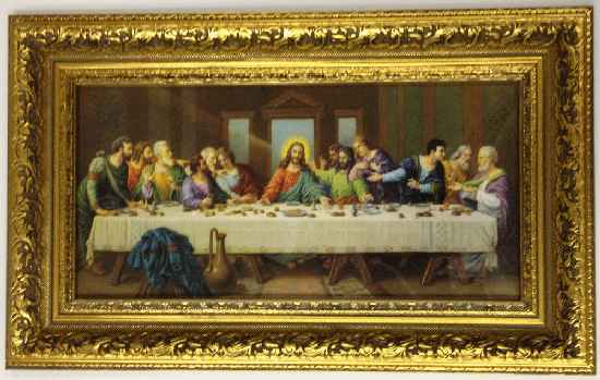 Museum Framed Last Supper Print 18 Inchsize