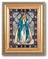 Our Lady of Grace - Stained Glass - Framed