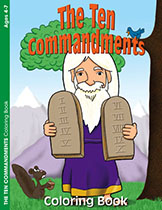 10 Commandments Children's Coloring Book