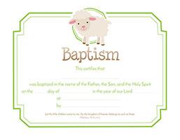 baptism certificate pkg of 6 matthew 1914