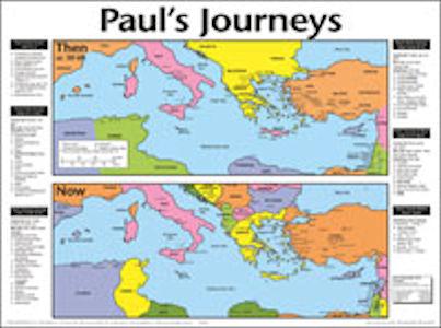 Paul's Journey Wall Chart- Laminated