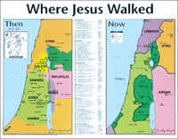 Where Jesus Walked Wall Chart- Laminated